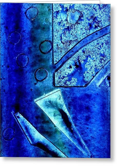 Blue I Greeting Card by John  Nolan