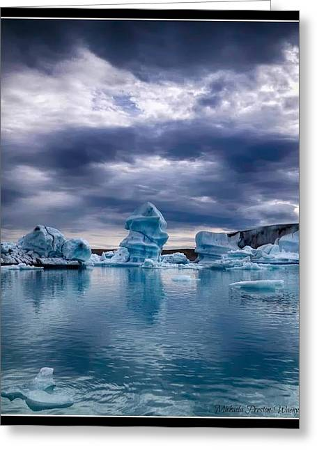 Michaela Preston Greeting Cards - Blue Ice 2 Greeting Card by Michaela Preston