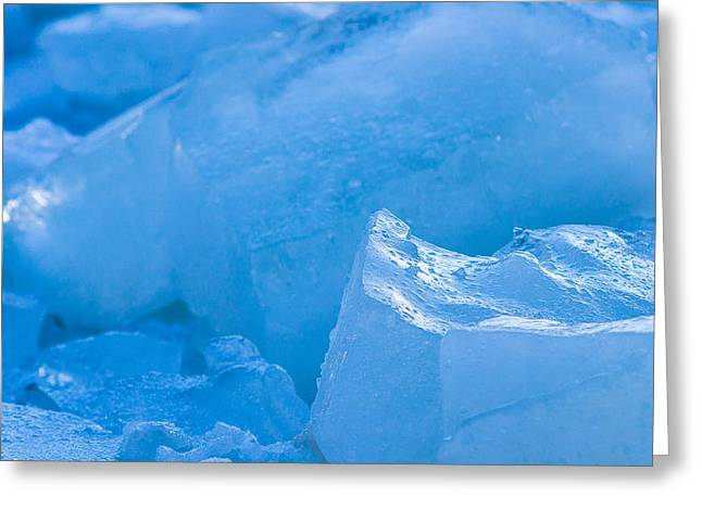 Coldness Greeting Cards - Blue Ice 4 Greeting Card by Alexander Senin