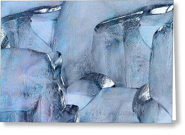 Abstract Movement Greeting Cards - Blue Ice Greeting Card by Jack Zulli