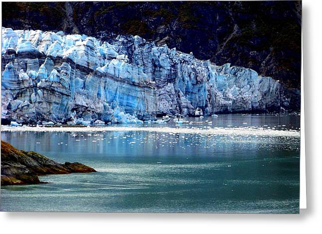 Glacier Bay Greeting Cards - Blue Ice Greeting Card by Karen Wiles