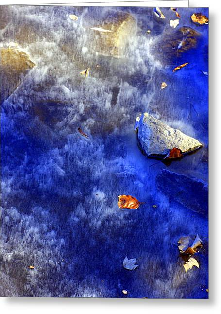 Underwater Photos Greeting Cards - Blue Ice Greeting Card by Marcia Lee Jones