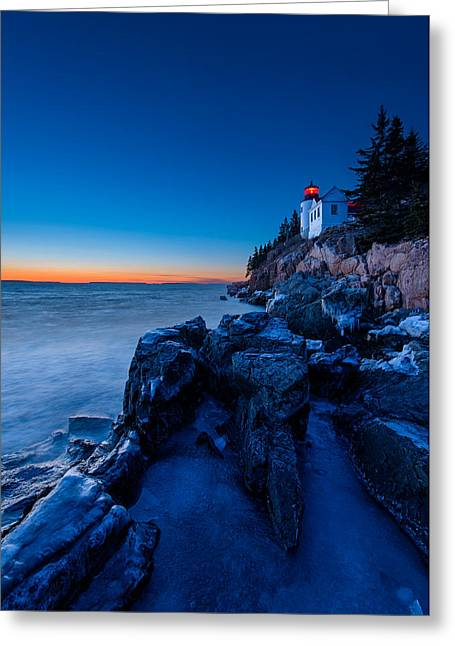 Bass Head Light Greeting Cards - Blue Ice Greeting Card by Michael Blanchette