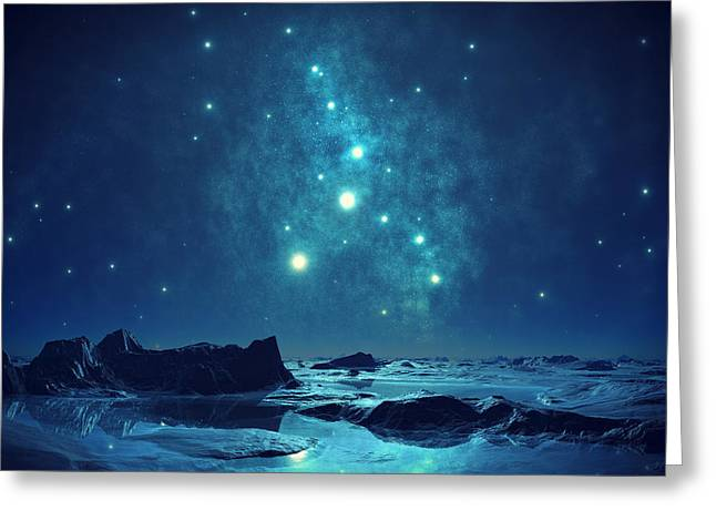 Alone Digital Art Greeting Cards - Blue Ice Greeting Card by Mountain Dreams
