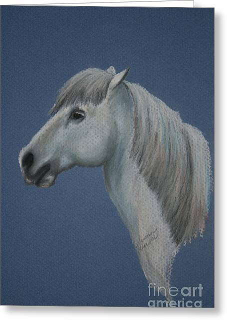 Pony Pastels Greeting Cards - Blue Ice Pony Greeting Card by Susan Herber