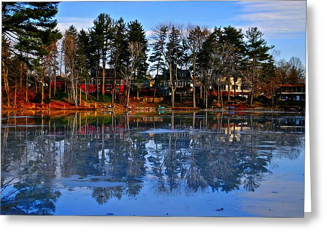 Willow Lake Greeting Cards - Blue Ice Greeting Card by Frozen in Time Fine Art Photography