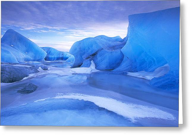 Jan Vermeer Photographs Greeting Cards - Blue Icebergs Iceland Greeting Card by Jan Vermeer