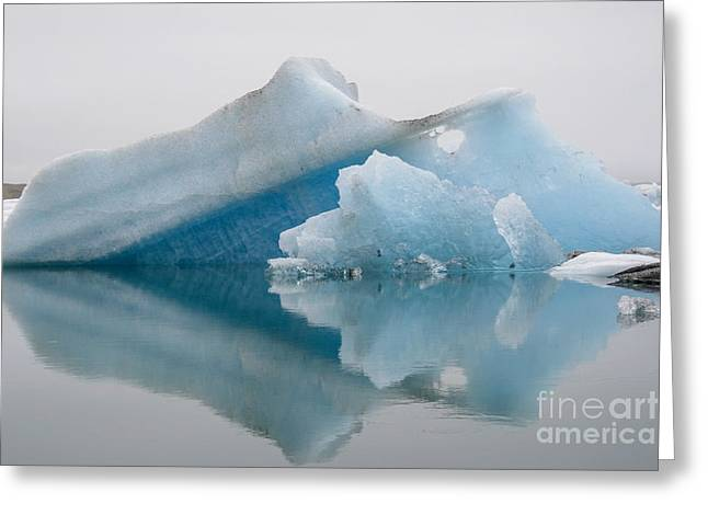 Concern Greeting Cards - Blue icebergs Greeting Card by Patricia Hofmeester