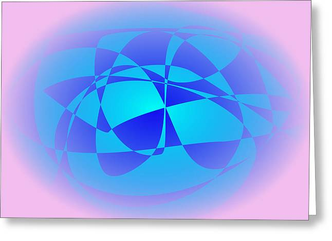 Gradations Digital Art Greeting Cards - Blue in Pink Greeting Card by Masaaki Kimura