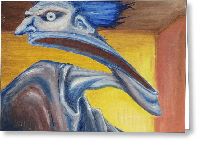 Recently Sold -  - Morph Greeting Cards - Blue - Internal Greeting Card by Jeffrey Oleniacz