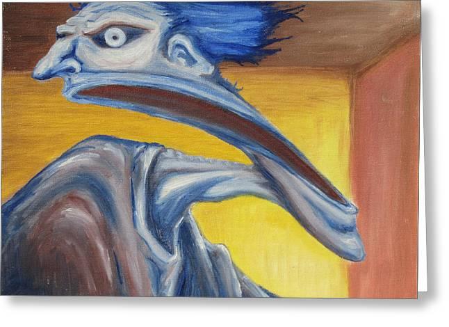 Morph Greeting Cards - Blue - Internal Greeting Card by Jeffrey Oleniacz