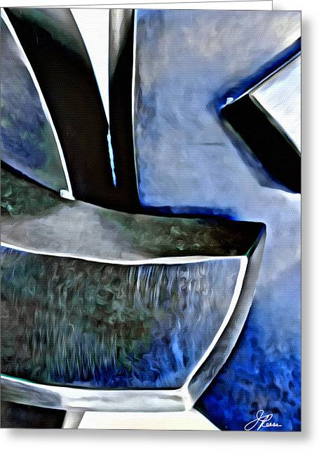 Blue Iron Greeting Card by Joan Reese