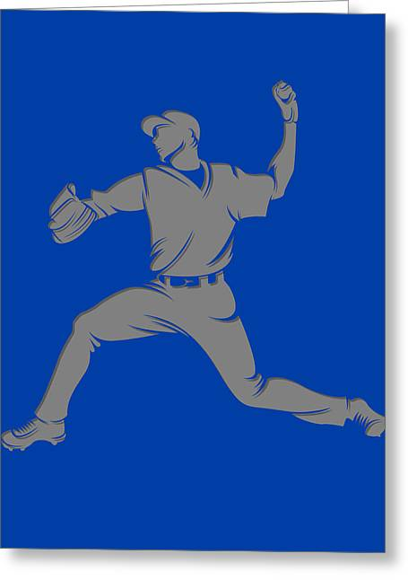 Baseball Art Photographs Greeting Cards - Blue Jays Shadow Player1 Greeting Card by Joe Hamilton