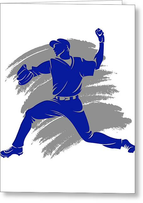 Baseball Art Photographs Greeting Cards - Blue Jays Shadow Player2 Greeting Card by Joe Hamilton