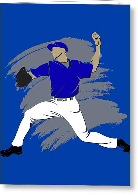 Baseball Art Photographs Greeting Cards - Blue Jays Shadow Player3 Greeting Card by Joe Hamilton