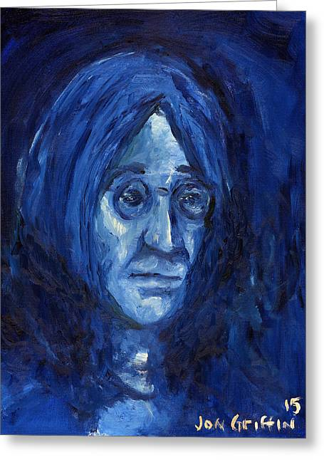 Apple Records Greeting Cards - Blue John Greeting Card by Jon Griffin