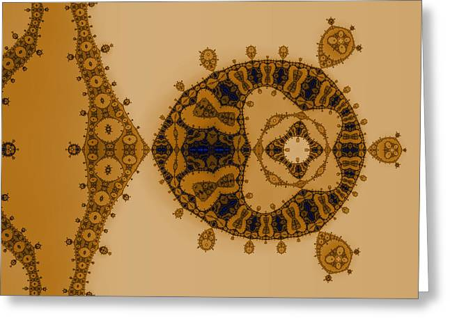 Eggleston Greeting Cards - Blue Lace Greeting Card by Mark Eggleston