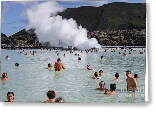 Blue Lagoon In Iceland Greeting Card by Patricia Hofmeester