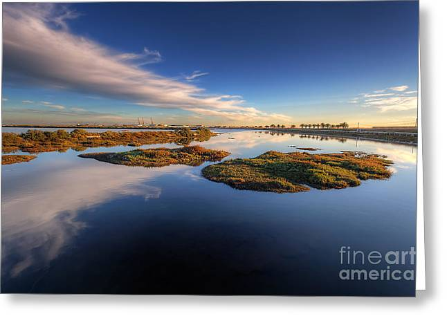 Blue Ria Greeting Cards - Blue Lagoon Greeting Card by English Landscapes