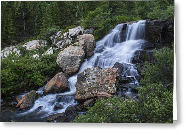 Blue Lake Falls Greeting Card by Michael J Bauer