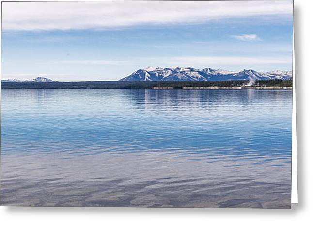 Photo Art Gallery Greeting Cards - Blue Lake Horizon Greeting Card by Jon Glaser