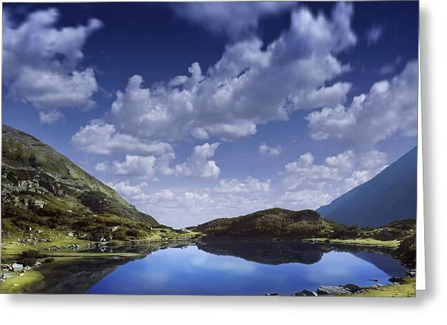 Reflections Of Sky In Water Greeting Cards - Blue Lake In The Pirin Mountains Greeting Card by Evgeny Kuklev