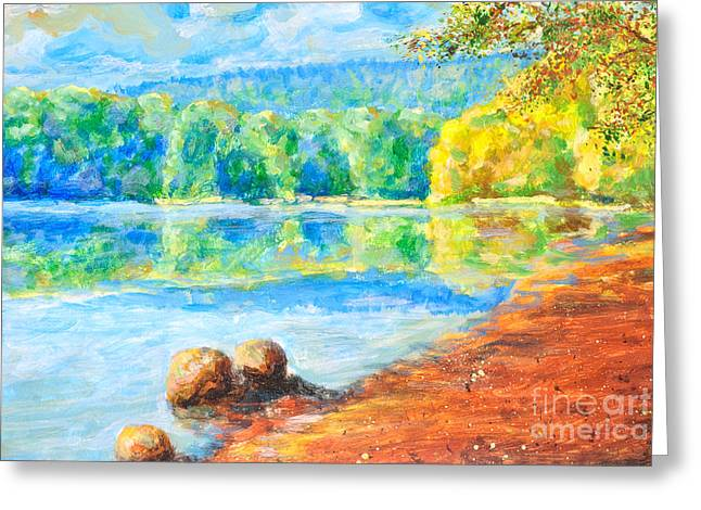 Water Scape Greeting Cards - Blue lake Greeting Card by Jiri Capek