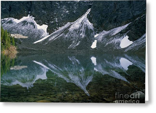 Okanogan National Forest Greeting Cards - Blue Lake Reflection Greeting Card by Tracy Knauer