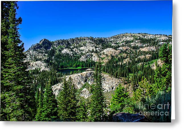 Blue Lake Greeting Card by Robert Bales