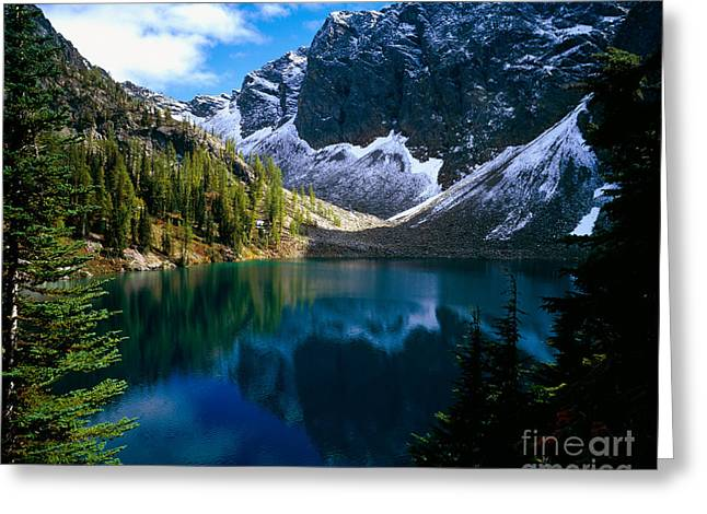 Okanogan National Forest Greeting Cards - Blue Lake Greeting Card by Tracy Knauer