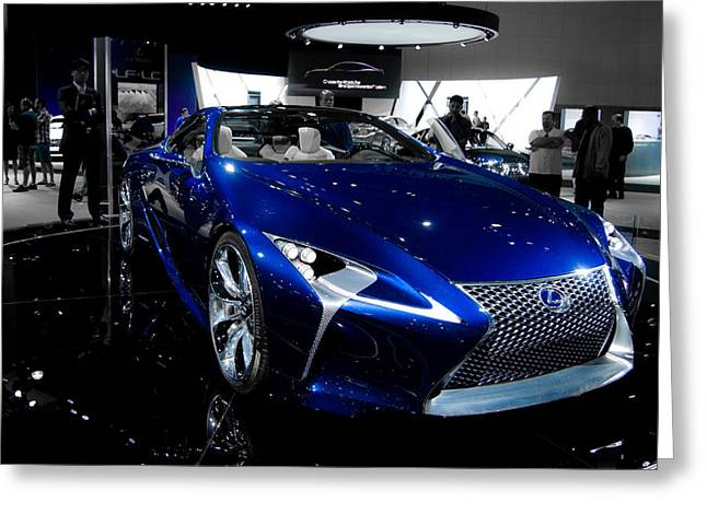 Blue Lexus Lf-lc Concept Greeting Card by Guinapora Graphics