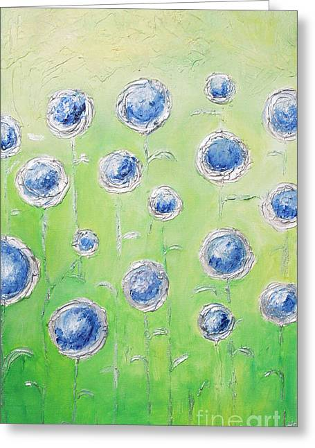 Home Art Greeting Cards - Blue light Greeting Card by Home Art