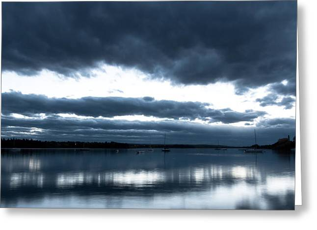 Glenmore Reservoir Greeting Cards - Blue light on the Glenmore Reservoir Greeting Card by Michael Mckinney
