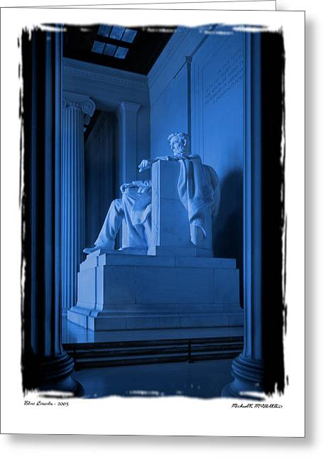 Blue Lincoln Greeting Card by Mike McGlothlen