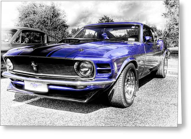 Aotearoa Greeting Cards - Blue Mach 1 Greeting Card by motography aka Phil Clark