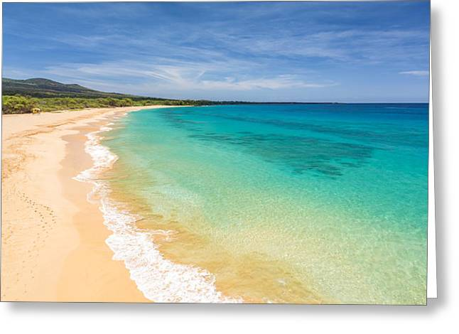 Recently Sold -  - Beach Landscape Greeting Cards - Blue Makena Beach Maui Greeting Card by Pierre Leclerc Photography