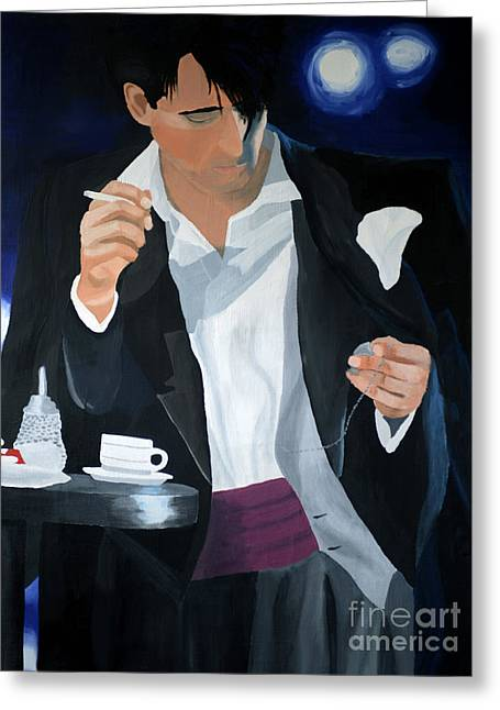 Tala-art Greeting Cards - Blue Man Greeting Card by Eva-Maria Becker