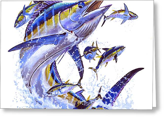 Blue Marlin Greeting Card by Carey Chen