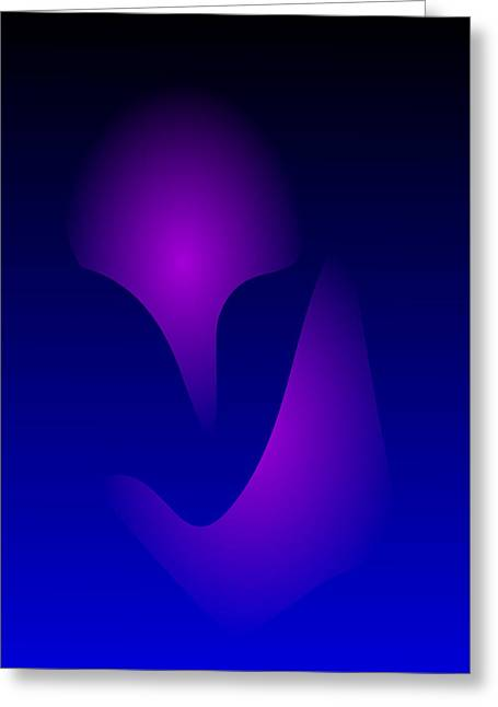 Gradations Digital Art Greeting Cards - Blue Mask Greeting Card by Masaaki Kimura