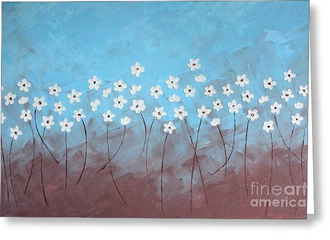 Home Art Greeting Cards - Blue meadow Greeting Card by Home Art