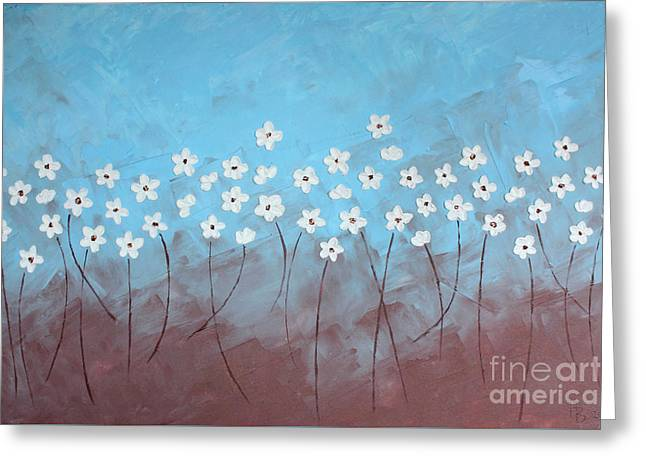 Blue Meadow Greeting Card by Home Art