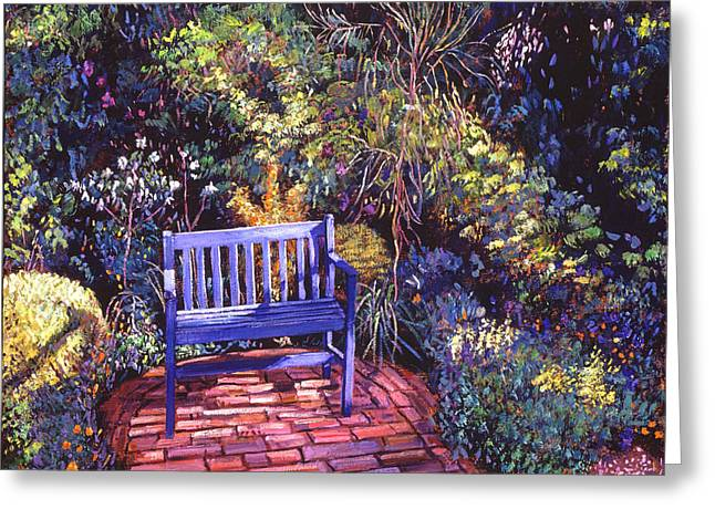 Blue Meeting Chair Greeting Card by David Lloyd Glover