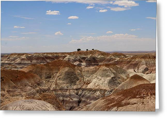 Blue Mesa - Painted Desert Greeting Card by Christiane Schulze Art And Photography