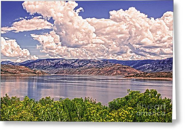 Reflections In River Greeting Cards - Blue Mesa Curecanti Colorado Greeting Card by Janice Rae Pariza