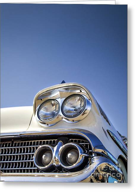Photographs Digital Art Greeting Cards - Blue- Metal and Speed Greeting Card by Holly Martin