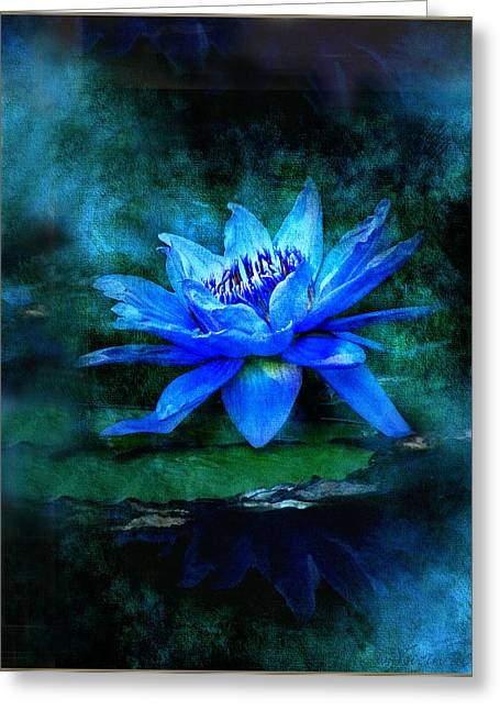 Water Lilly Greeting Cards - Blue Mist Greeting Card by Bill Voizin