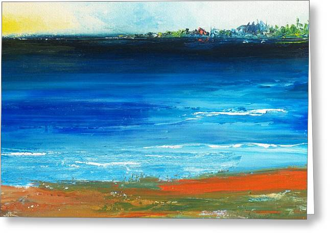 Blue Mist Over Nantucket Island Greeting Card by Conor Murphy