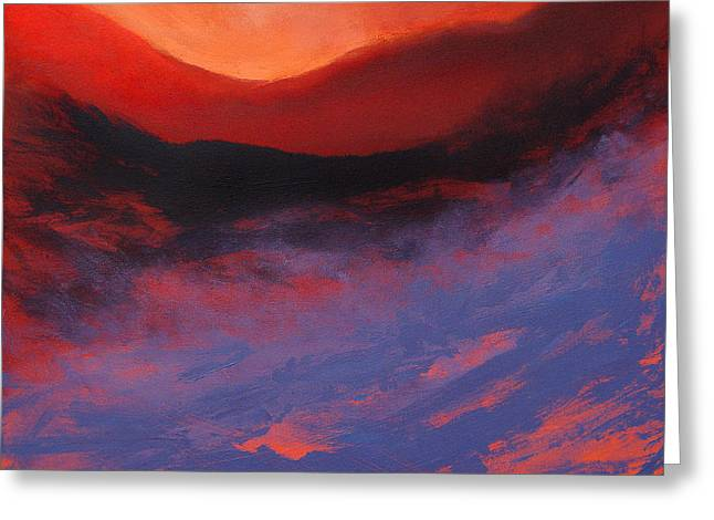 Moors Greeting Cards - Blue Mist Rising Greeting Card by Neil McBride