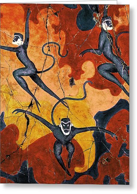 History Greeting Cards - Blue Monkeys No. 8 - Study No. 1 Greeting Card by Steve Bogdanoff