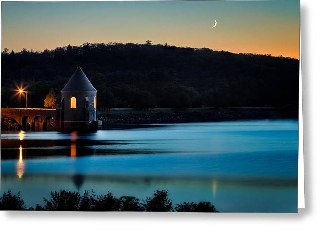 Placid Blue Greeting Cards - Blue Moon Greeting Card by Bill  Wakeley